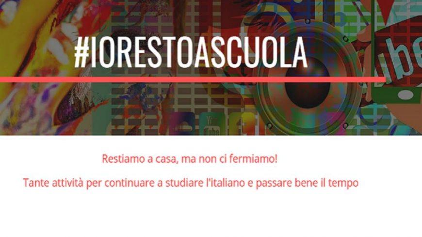 #Iorestoascuola, a lezione di italiano online